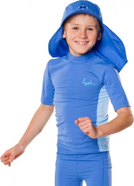 UV Sonnenschutz T-Shirt 'cubed pid blue' für Kinder mit UPF 80 von hyphen
