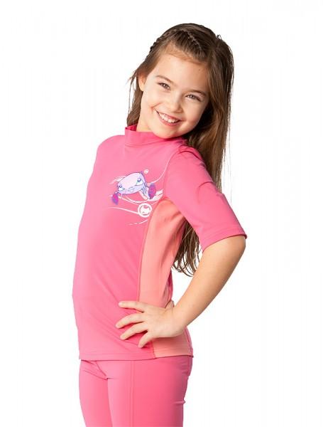 UV Sonnenschutz Kurzarmshirt 'tenkidenk Phlox' für Kinder mit UPF 80 von hyphen in diversen Grössen