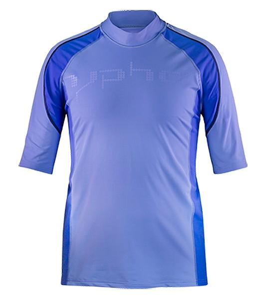 51297 hyphen Herren Kurzarmshirt 'the rag reef blue' mit UPF 80