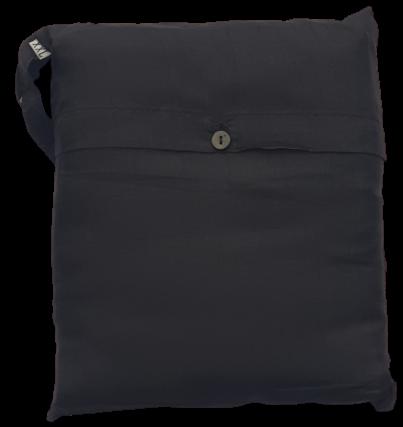 Seidenschlafsack mit Reissverschluss zum Reisen in schwarz, 110x250 cm, 100 % Seide