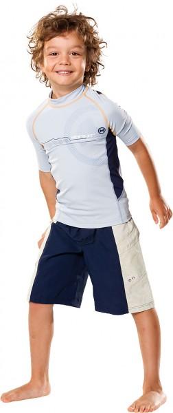 UV Sonnenschutz Kurzarmshirt 'satellite silvermoon' für Kinder mit UPF 80 von hyphen