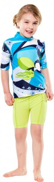 UV Sonnenschutz Kurzarmshirt 'waterworld azur' für Kinder mit UPF 80 von hyphen