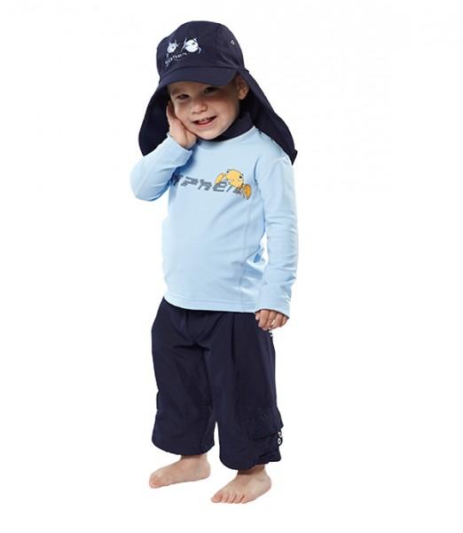 UV Sonnenschutz Hosen 'urban deep sea' für Kinder mit UPF 80 von hyphen