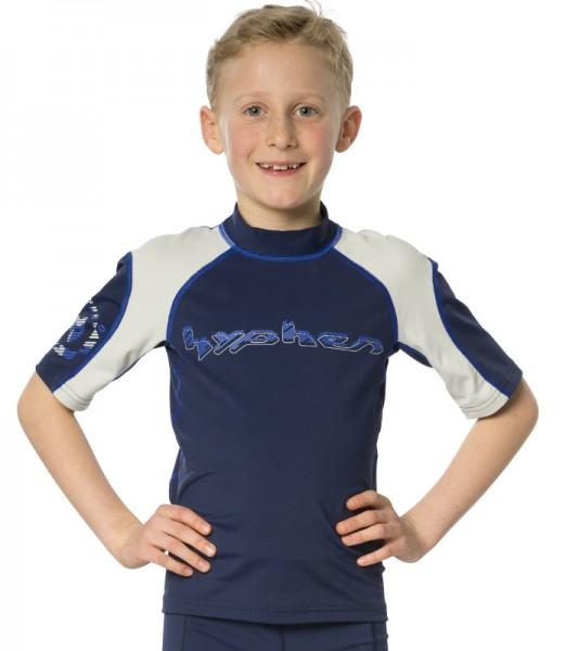 UV Sonnenschutz T-Shirt 'race blue iris' für Kinder mit UPF 80 von hyphen