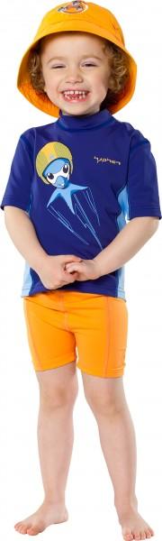 UV Sonnenschutz Kurzarmshirt 'furi ocy jet' für Kinder mit UPF 80 von hyphen