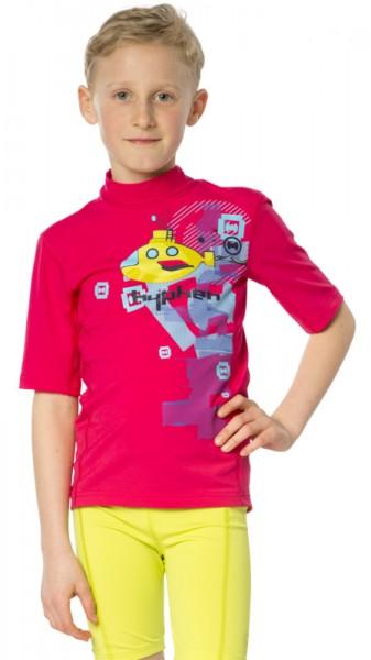 UV Sonnenschutz Kurzarmshirt 'ye-sub azao' für Kinder mit UPF 80 von hyphen