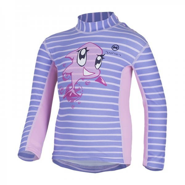 UV Sonnenschutz Langarmshirt 'siri striped sweet lave' für Kinder mit UPF 80 von hyphen