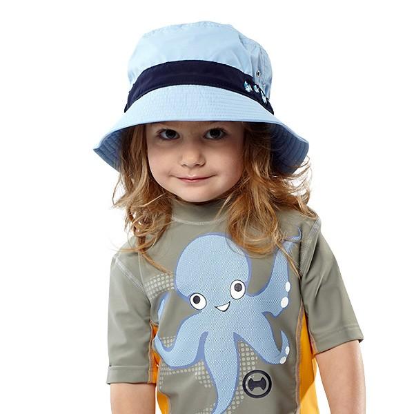 UV  Sonnenhut 'pid blue' für Kinder mit UPF 80 Grösse 46-48 von hyphen