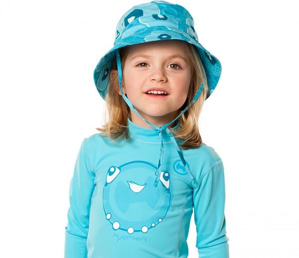 UV  Sonnenhut 'meadows azur' für Kinder mit UPF 80 Grösse 46-48 von hyphen