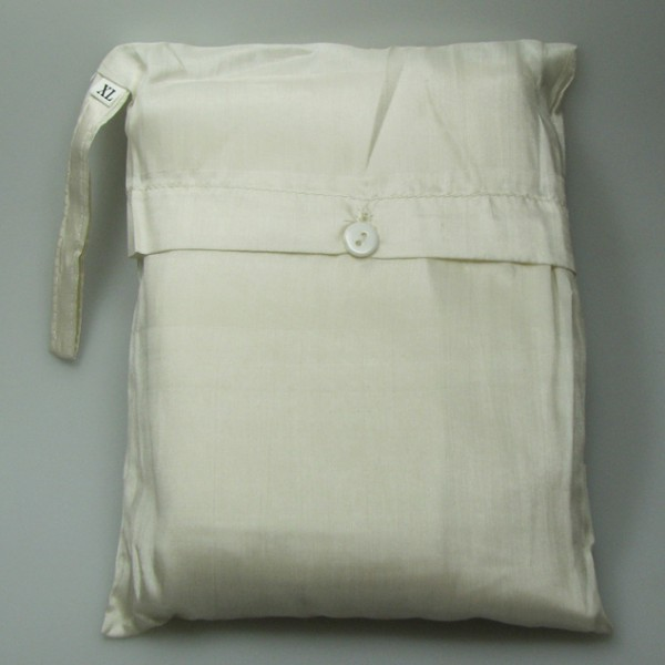 Seidenschlafsack zum Reisen in ecru-weiss 110x300 cm