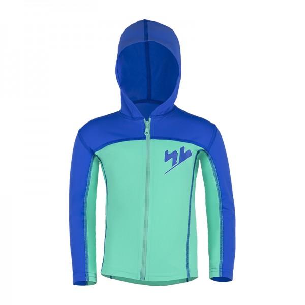 UV Sonnenschutz Hoodie mit RV 'hy cobalt / bermuda' für Kinder mit UPF 80 von hyphen