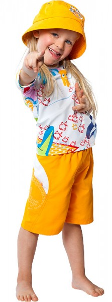 UV Sonnenschutz Kurzarmshirt 'whiteworld' für Kinder mit UPF 80 von hyphen