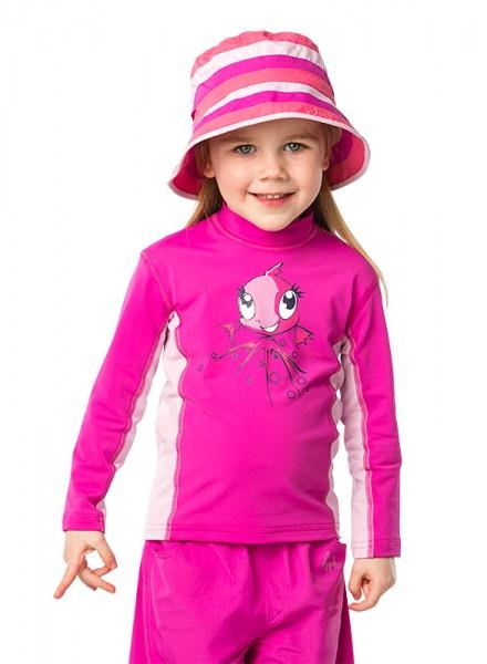 Sonnenschutz Langarmshirt 'zoe baton rouge' für Kinder mit UPF 80 von hyphen