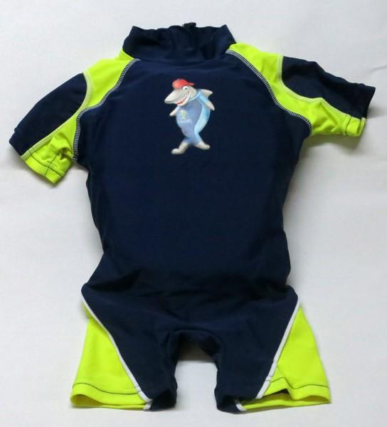 Aqua-Suit Kinderschwimmhilfe für Kinder von 4-5 Jahren mit UV-Schutz LSF +30, Farbe marine-gelb
