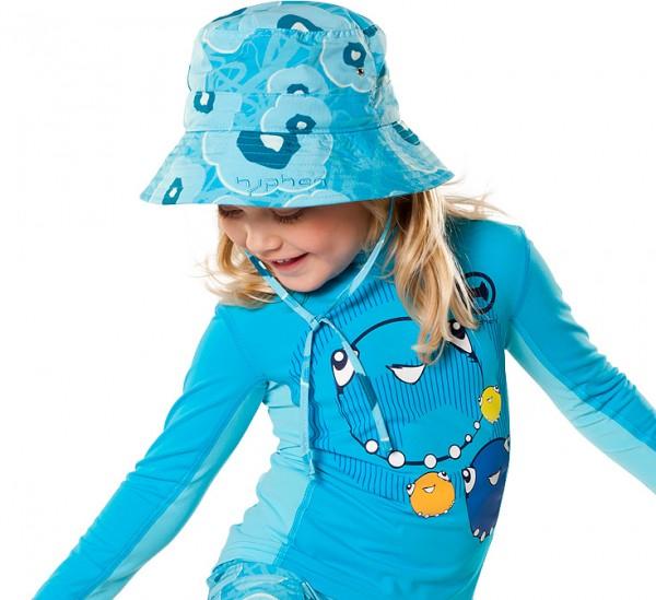 UV  Sonnenhut 'meadows azur' für Kinder mit UPF 80 Grösse 54-56 von hyphen