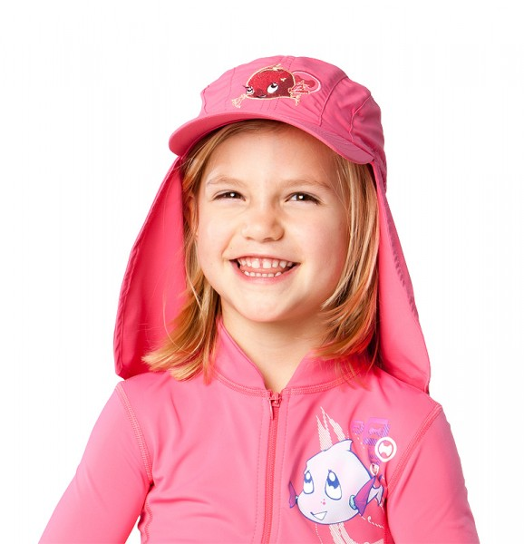 UV  Sonnenhut 'phlox' für Kinder mit UPF 80 Grösse 46-48 von hyphen