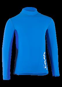 Kinder Langarmshirt 'coo cielo/cobalt blue iris' von Hyphen mit UPF 80