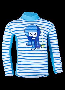 Kinder-Langarmshirt 'okili striped cielo/moliki azur'