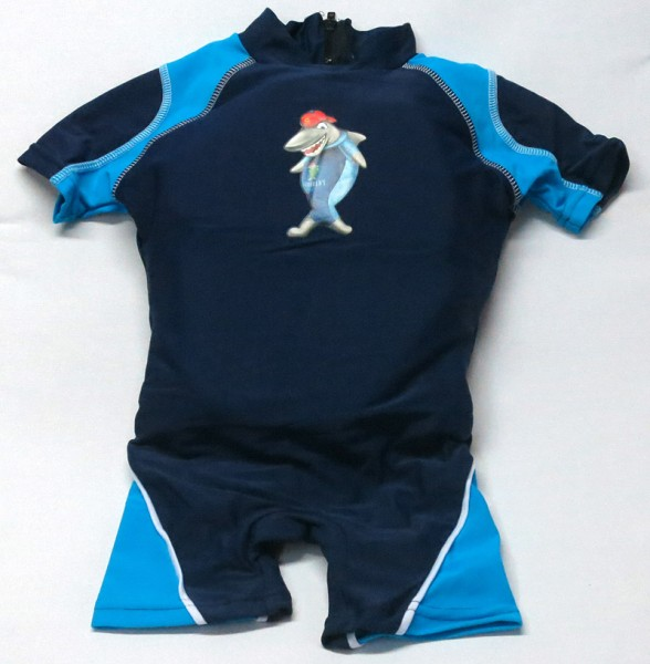 Aqua-Suit Kinderschwimmhilfe für Kinder von 4-5 Jahren mit UV-Schutz LSF +30, Farbe marine-blau