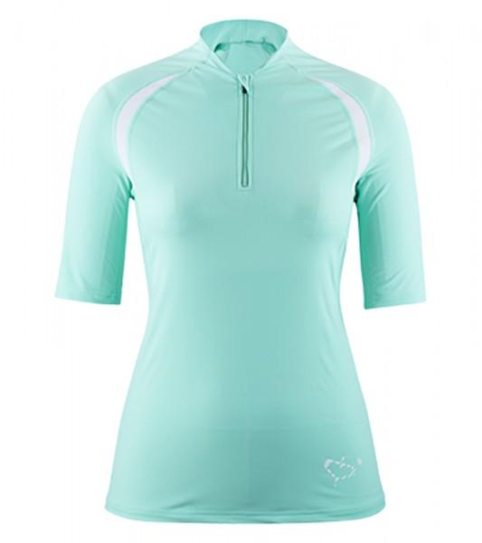 UV Sonnenschutz Kurzarmshirt 'satao caribic bee' für Frauen mit UPF 80 von hyphen