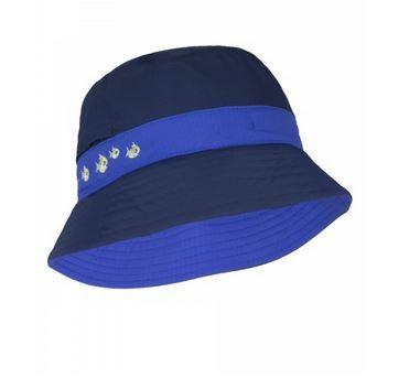 UV  Sonnenhut 'deep sea' dunkelblau für Kinder mit UPF 80 Grösse 46-48 von hyphen