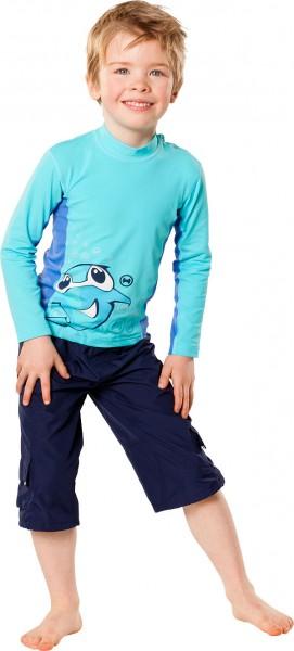 UV Sonnenschutz Langarmshirt 'charming sharky caribic' für Kinder mit UPF 80 von hyphen