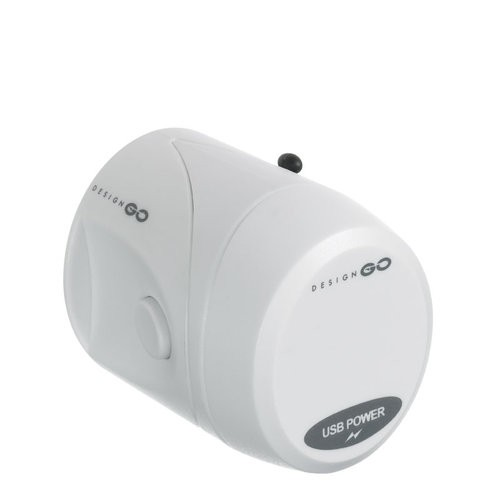 Design GO 404 Reiseadapter - World Adaptor mit integriertem USB Ladegerät