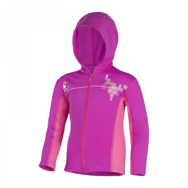 UV Sonnenschutz Hoodie mit RV 'on the wire baton rouge' für Kinder mit UPF 80 von hyphen