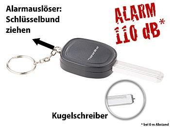 Personenalarm, Schlüsselanhänger mit Sirene und integriertem Schlüsselanhänger