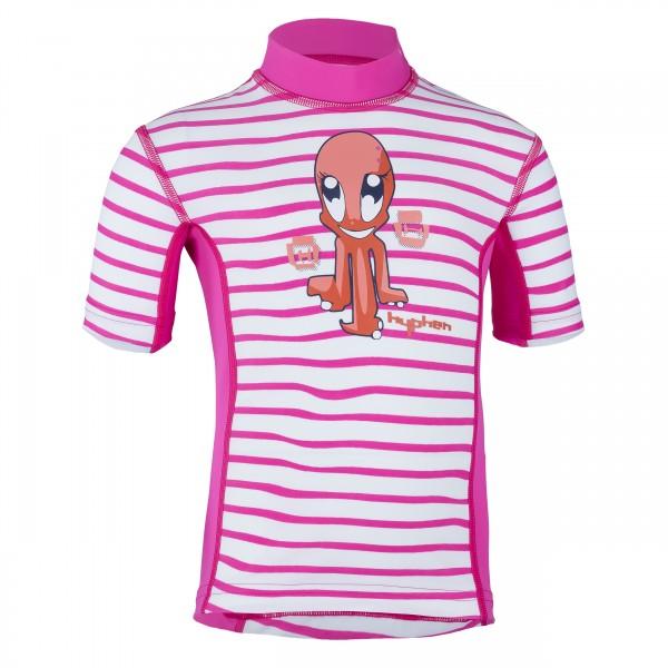 Kinder-Kurzarmshirt 'ocy striped magli/magli'