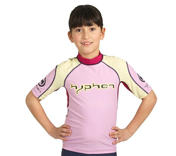 UV Sonnenschutz Kurzarmshirt 'hyphen rose' für Kinder mit UPF 80 von hyphen