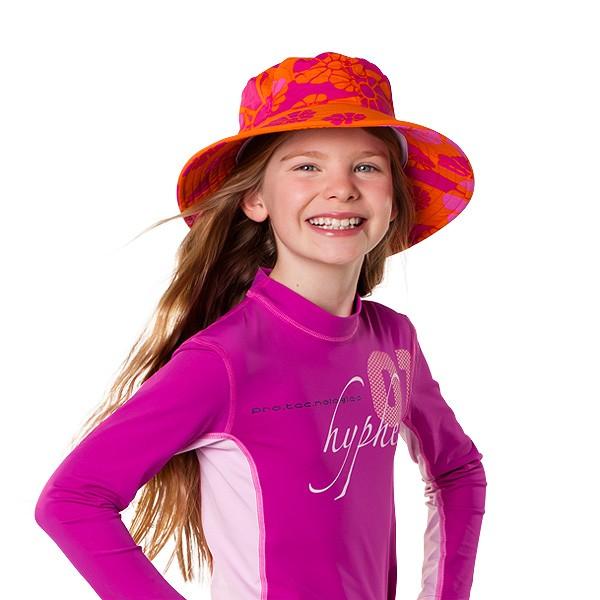 UV  Sonnenhut 'candyflower' für Kinder mit UPF 80 Grösse 46-48 von hyphen