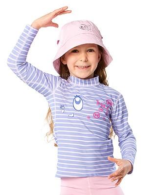 UV Sonnenschutz Langarmshirt 'bright eyes striped lave' für Kinder mit UPF 80 von hyphen