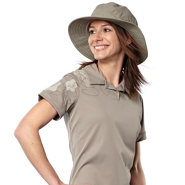 UV Sonnenschutz Kurzarmshirt 'macchiato' 50624 für Frauen mit UPF 80 von hyphen