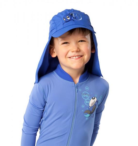 UV  Sonnenhut 'cobalt' für Kinder mit UPF 80 Grösse 42-44 von hyphen