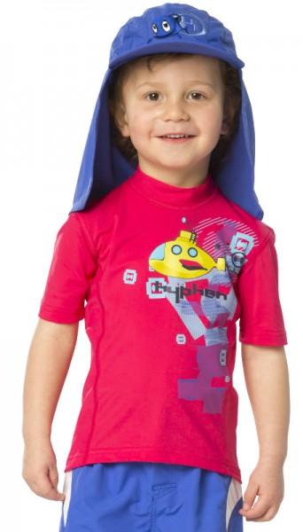 UV Sonnenschutz Kurzarmshirt 'ye-sub azao' für Kinder mit UPF 80 von hyphen, Grösse 68-110
