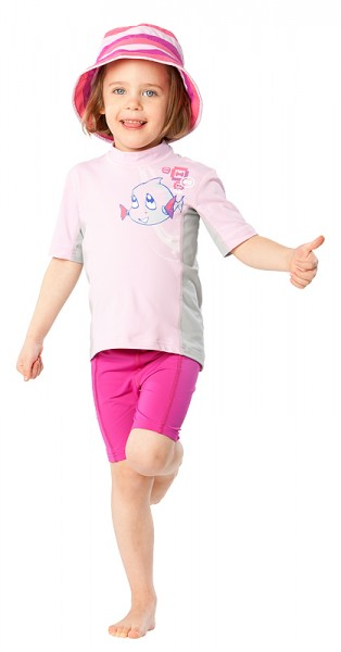 UV Sonnenschutz Kurzarmshirt 'hey snups cameo rose' für Kinder mit UPF 80 von hyphen