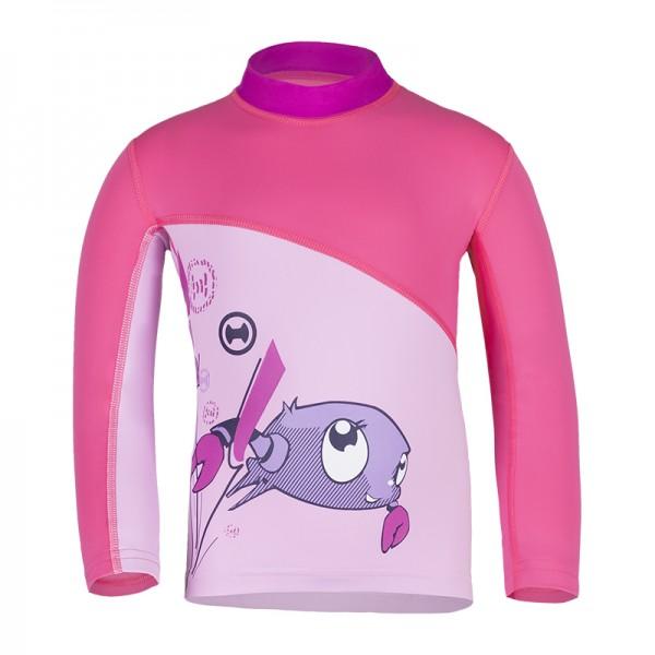 UV Sonnenschutz Kurzarmshirt 'ike'coqé phlox | cameo rose' für Kinder mit UPF 80 von hyphen