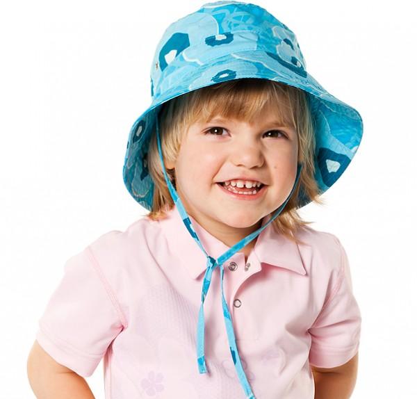 UV  Sonnenhut 'meadows azur' für Kinder mit UPF 80 Grösse 42-44 von hyphen