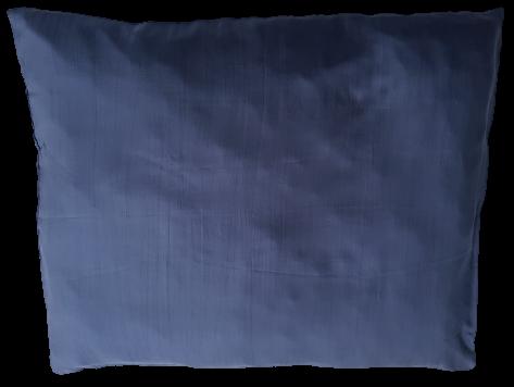 Seiden-Kissenbezug 50 x 60 dunkelblau,100% Seide, passend zu den Seidenschlafsäcken