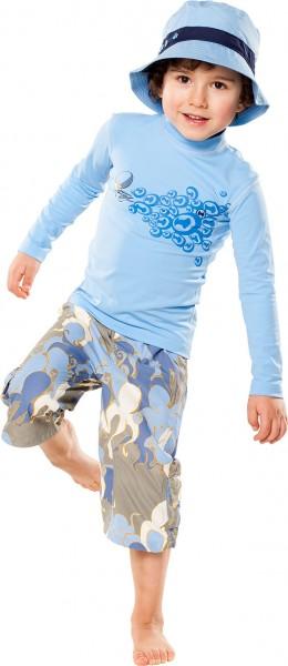 Kinder Langarmshirt 'swooosh pid blue'