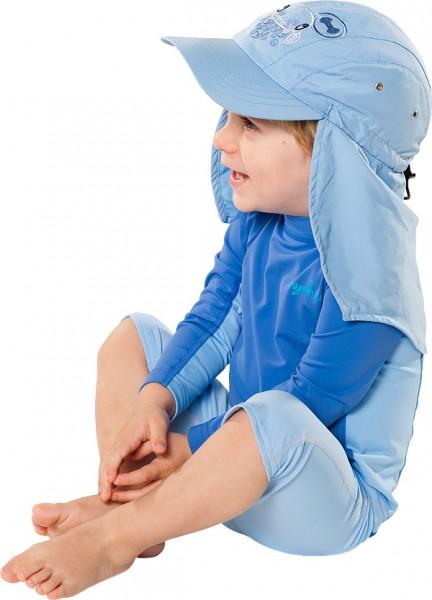 UV  Sonnenhut 'ocy pid blue' für Kinder mit UPF 80 Grösse 38-40 von hyphen