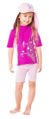 UV Sonnenschutz Kurzarmshirt 'kalana cameo rose' für Kinder mit UPF 80 von hyphen