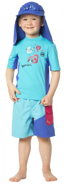 UV Sonnenschutz T-Shirt 'turli azurito' für Kinder mit UPF 80 Marke hyphen