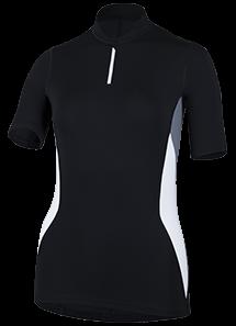 Frauen Kurzarmshirt 'ha'atu black'