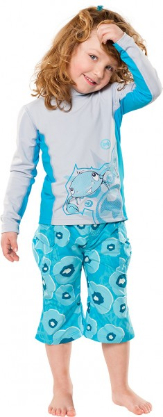 UV Sonnenschutz Langarmshirt 'ike xeppoon silvermoon' für Kinder mit UPF 80 von hyphen