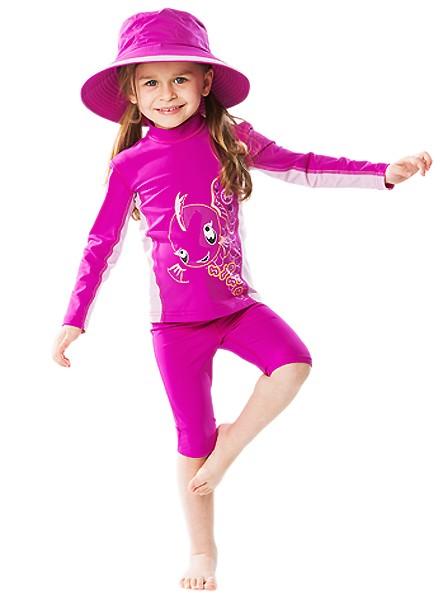 UV Sonnenschutz Langarmshirt 'kaia baton rouge' für Kinder mit UPF 80 von hyphen in diversen Grössen