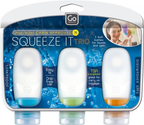 Design GO Reise-Flaschen 4x 60 ml mit Saugnapf