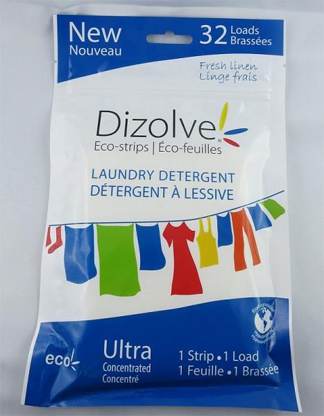 Dizolve Waschmittel-Strifen mit Frischeduft - 32x waschen