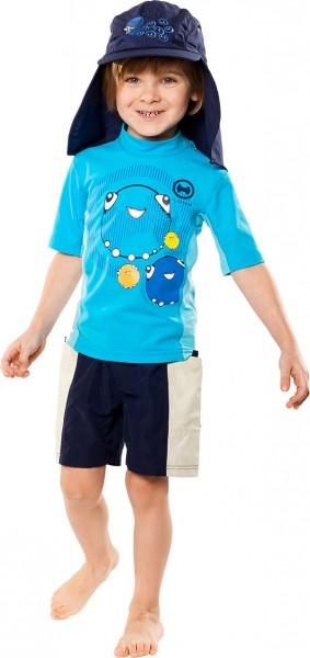 UV Sonnenschutz Shorts 'waimea deep sea' für Kinder mit UPF 80 von hyphen